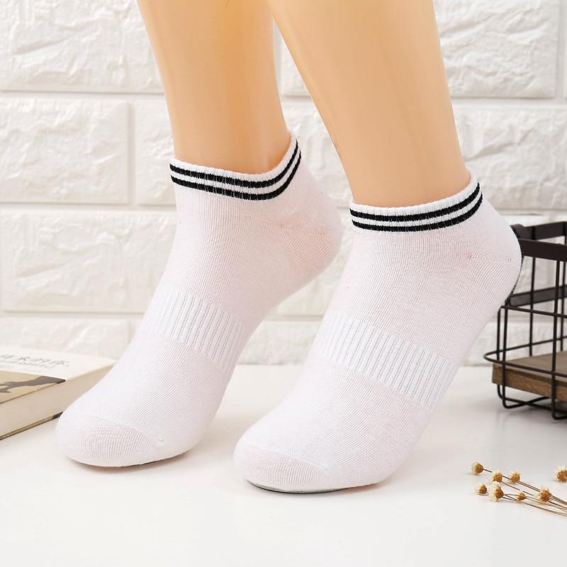 1 Pair Cotton Ankle Socks For Couples Lovers Mens Running Fitness Socks Male Men Sports Socks Short Black White CU893770