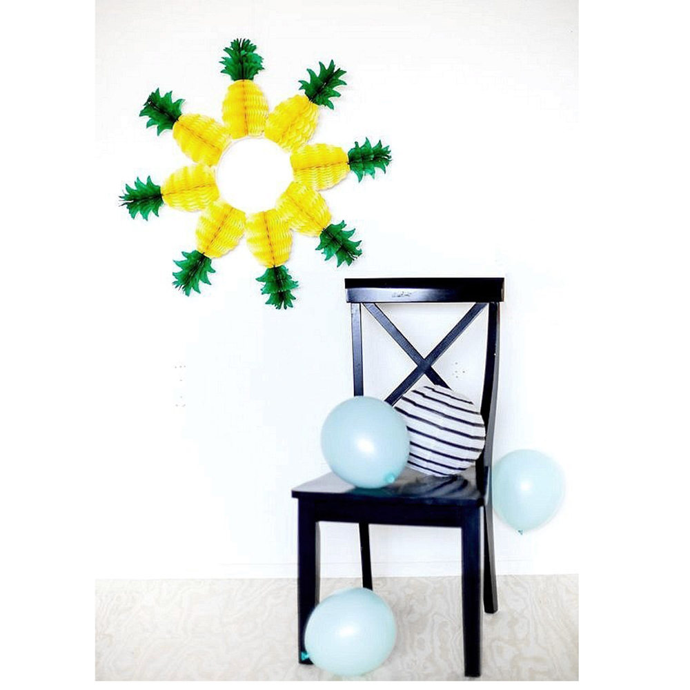 5pcs Honeycomb Pineapple Hanging Decor Pineapple Garland Table ...