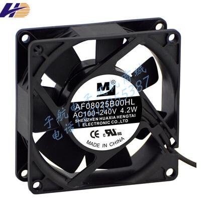 80*80*25 100V-220V 4.2W AF08025B00HL AC fan for wide voltage inverter fan 92 92 38 100v 220v 5 3w af0938b00hl ac fan for wide voltage inverter fan