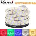 DC12V 5050 SMD 5M/lot  RGB LED Strip Light No-Waterproof Led Tape flexible Strip Light 60Leds/m Tira Home Decor Lamp Car Lamp