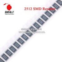 100pcs 2512 5% 1W SMD Resistor 6.2R 6.8R 7.5R 8.2R 9.1R 6.2 6.8 7.5 8.2 9.1 ohm