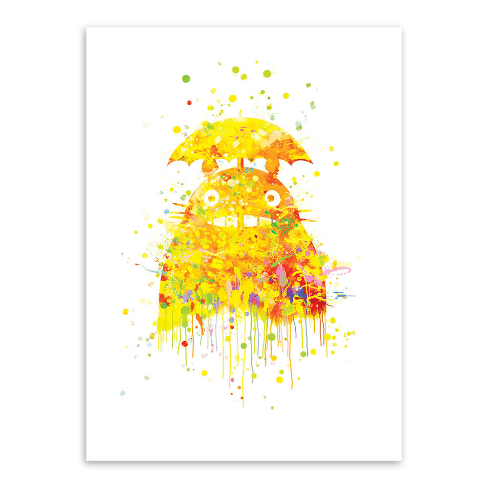 ᓂOriginal Watercolor Totoro Modern Japanese Anime Movie A4 Art ...