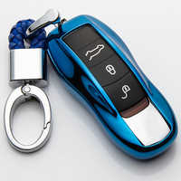 For Porsche Cayenne 958 Macan 911 996 Boxster 986 987 Cayman 991 92A for Panamera TPU Car Key Cover Case Holder Car Accessories