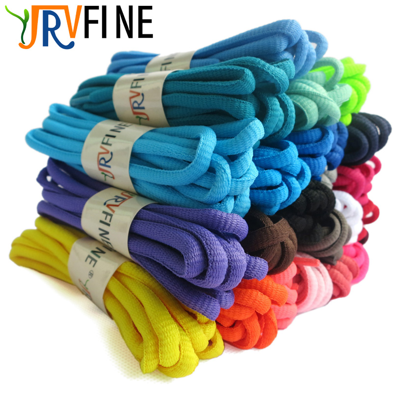 YJRVFINE 1Pair New High Quality Oval Shoelaces Athletic Sport Sneaker Boots Polyester Shoe Laces Strings 100cm 120cm 140cm 160cm high quality 1 pair right