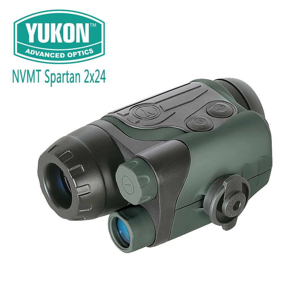 Yukon NVMT Spartan 2x24 Gen1 Night Vision Monoculars Compact Hunting Scope Built-in IR illuminator Water and Dust Resistant цена