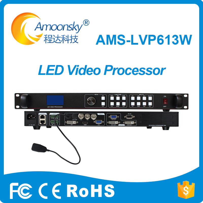For p10 led module rgb display Amoonsky AMS-LVP613W LED Video Processor add wifi with Audio In and Out free shipping led display controller led video processor usb video processor ams lvp613 compar vdwall lvp515 with audio output