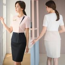 New micro plastic surgery hospital skirt set beauty salon cashier makeup counter shopping guide service