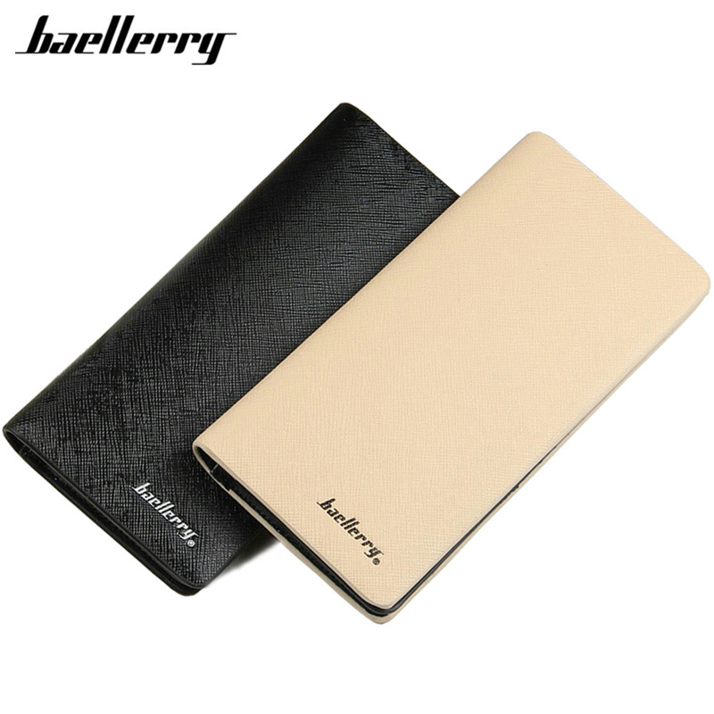 Baellerry brand new mens wallet leather PU mobile pouch designs man wallet with card holder long wallet hot sale Wholesale Walet baellerry business black purse soft light pu leather wallets large capity man s luxury brand wallet baellerry hot brand sale