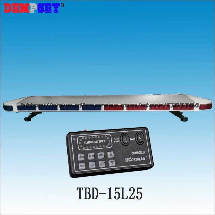 Alarm-lampe Sicherheit & Schutz Tbd-15325 Hohe Qualität Dc12v 88 Watt Led-lichtleiste/high Power Blau & Rot Warnlichtbalken/blinkende Warn Lichter/18-muster