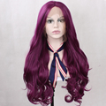Long Synthetic Hair Lace Front Purple Wig For Women Natural Wavy Cheap High Quality Heat Resistant Synthetic Glueless Wig Purple