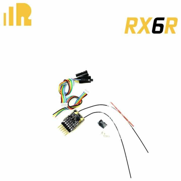 Новое поступление FrSky RX6R 6/16 приемник телеметрии предназначен для планеры Ультра маленький и супер свет 6 Вывод pwm