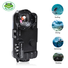 Seafrogs 60m/195ft Bluetooth Waterproof Housing Diving Phone Case For iPhone 6/7/8 Plus/Xs Max,Cover Bag for iPhone 6/7/8 Plus transparent shockproof phone case for iphone 7 8 6 6s plus case back cover for iphone 11 pro max case for iphone x xs max xr