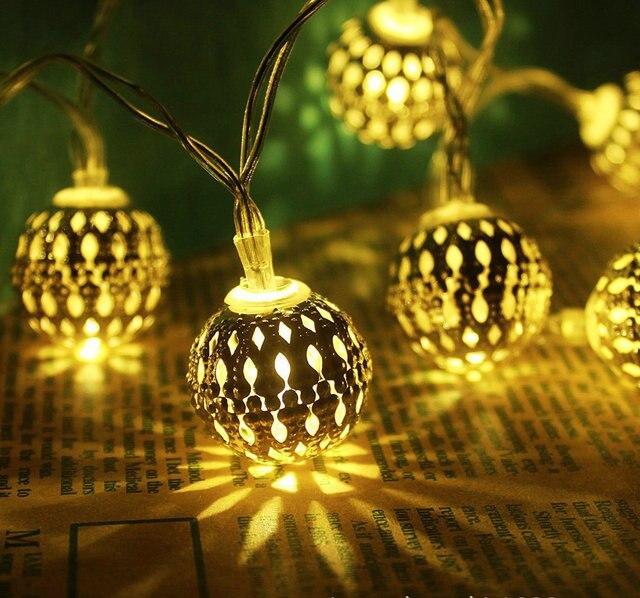 Медь наружного освещения с питанием от батареи светодиодные строки огни цепи Рождественские украшения