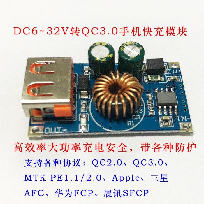 USB wiederum schritt-down dc modul 12 v24v QC3.0 unterstützung HUA schnell ladung handy pad. WEIFCP