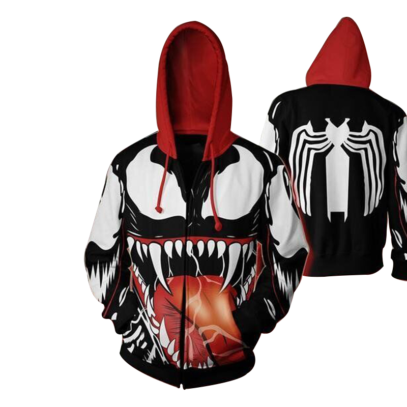 Cloudstyle Men 3D Print Hoodies Zip Up Spiderman Ironman Hero Cosplay Clothing Sweatshirt Outwear Hoody Streetwear Zipper Jacket
