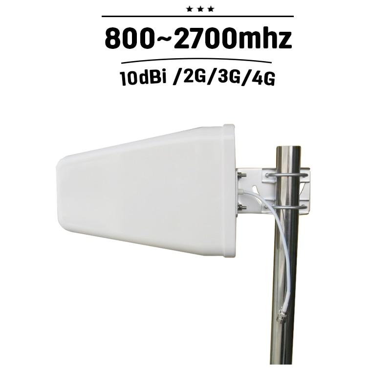 Extérieur Antenne Périodique de Rondin 10dBi Gain 800-2700 hz GSM 3g 4g D'antenne de Signal Externe de Téléphone Portable D'antenne pour Amplificateur De Signal Mobile