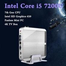В наличии! e бесплатная доставка mini pc 7e поколения intel core i5 7200u кабы lac win10 безвентиляторный 4 К htpc безвентиляторный nuc intel hd graphics 620