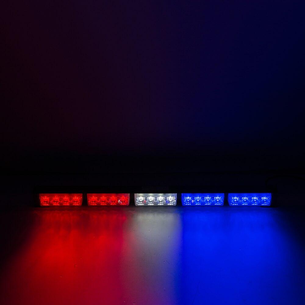 LED Strobe Lights 12V Flashing  Emergency Car Lamps Warning Bar Light Lamp blue 54 6x9 ultra led emergency warning use flashing strobe lights bar