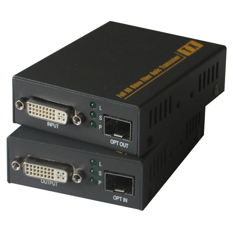 PW-THF123DKM Lossless Uncompressed DVI KVM Optical With USB Mouse And Keyboard Function Single-mode LC Fiber Extender