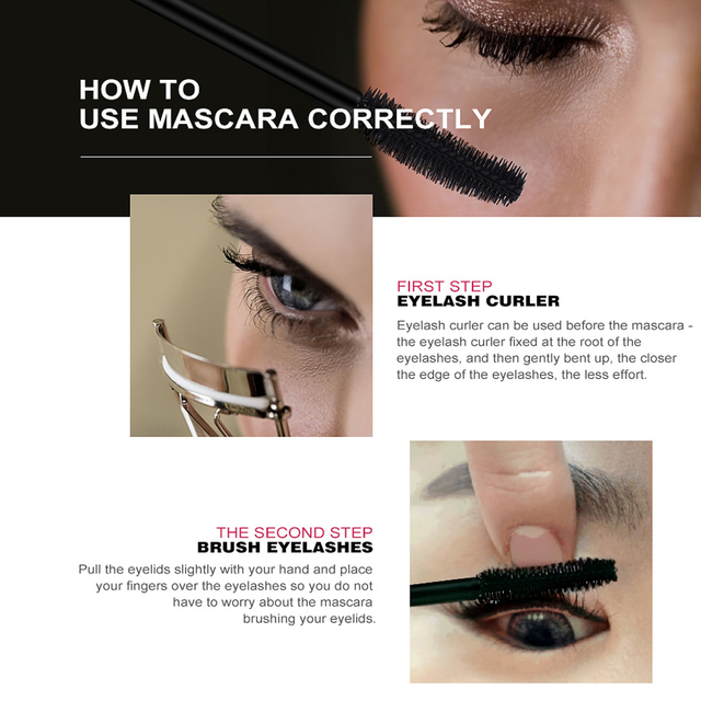 O.TWO.O Professional Volume Curled Lashes Black Mascare Waterproof Curling Tick Eyelash Lengtheing 3D Eye Makeup Mascara 2
