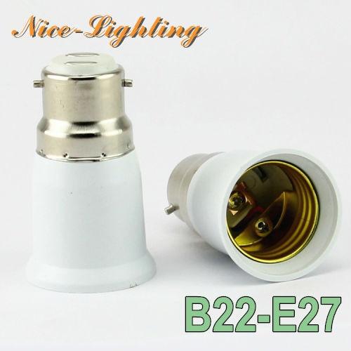 10pcs/lot B22-E27 Lamp Holder Converter Bayonet Socket B22 to E27 Lamps Holder Adapter Light Bulb Plug Extender Free Shipping