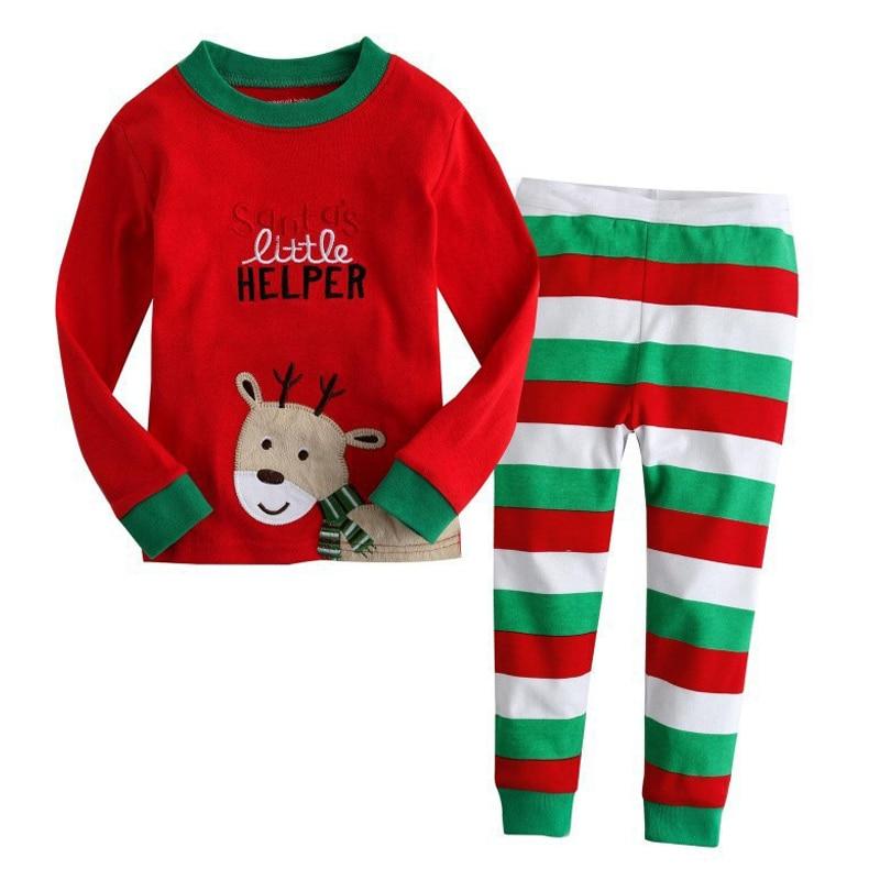 62b12a89c6c1 Baby Boys Girls Reindeer Home Sleepwear Set Kid Pajamas Nightwear ...