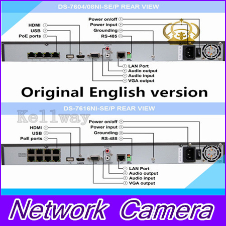 4CH 4PoE NVR 7604NI E1 4P Original English Version