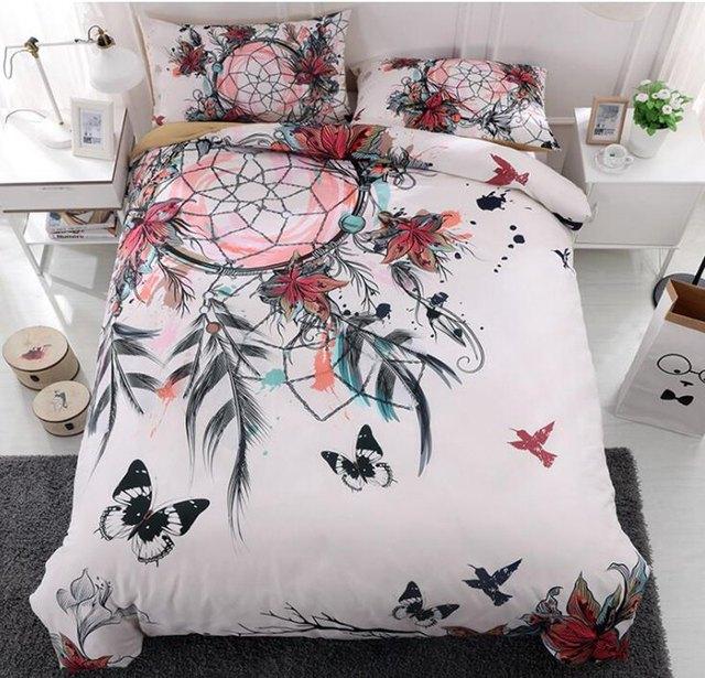 3d Dreamcatcher Bedding Set Feather Flower Bohemian