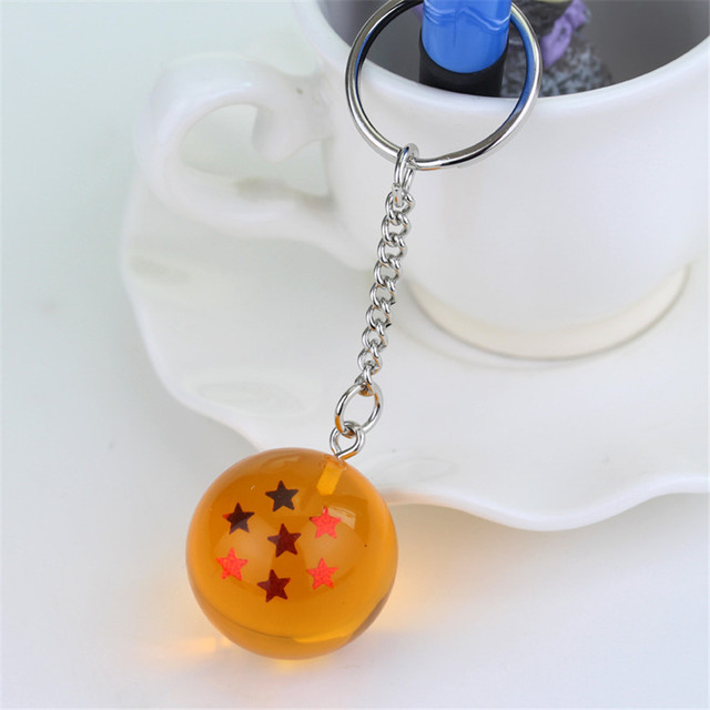 Anime Dragon Ball Z 7 Stars Balls 2.7cm PVC Figures Toys Keychain Pendant star Dragon Ball Z keyring Cartoon Fans Collection New
