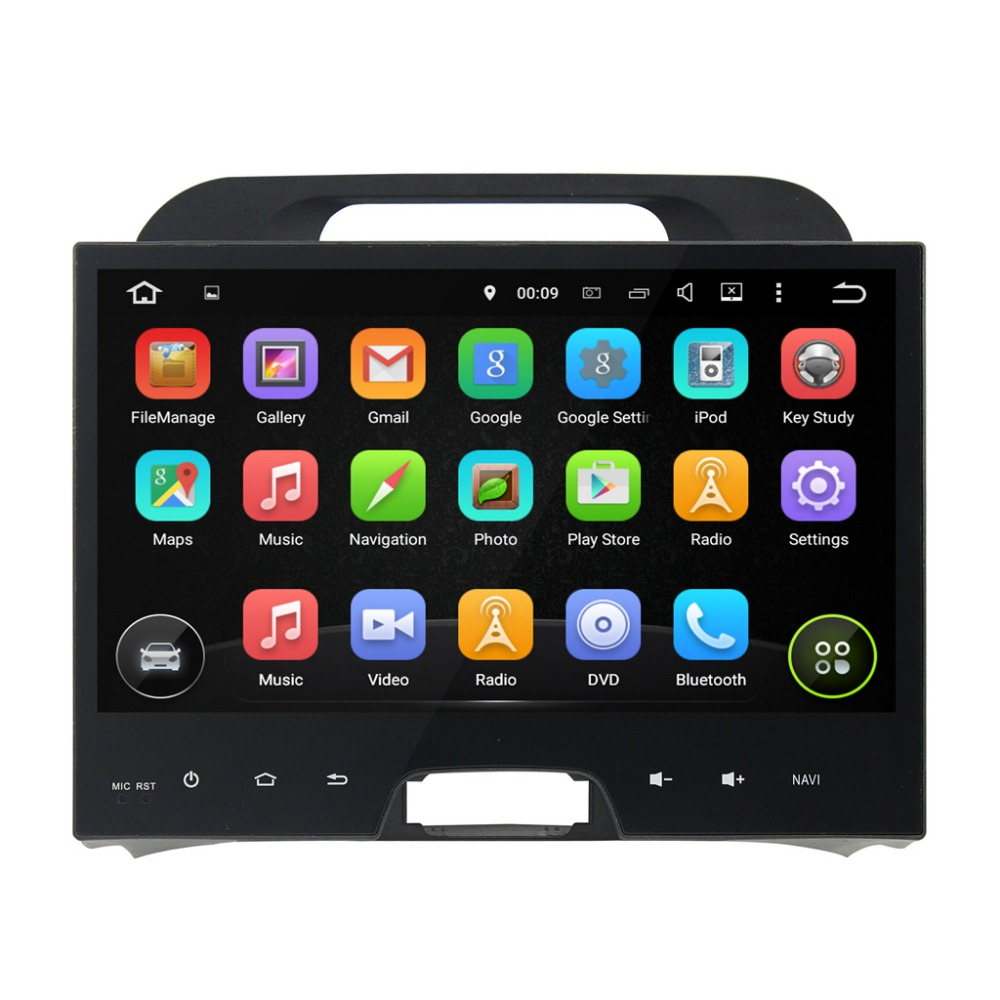 10.1 inch 1024*600 Quad Core Android 5.1 Fit KIA Sportage 2010-2012 Car GPS Navigation Video Radio Player without canbus