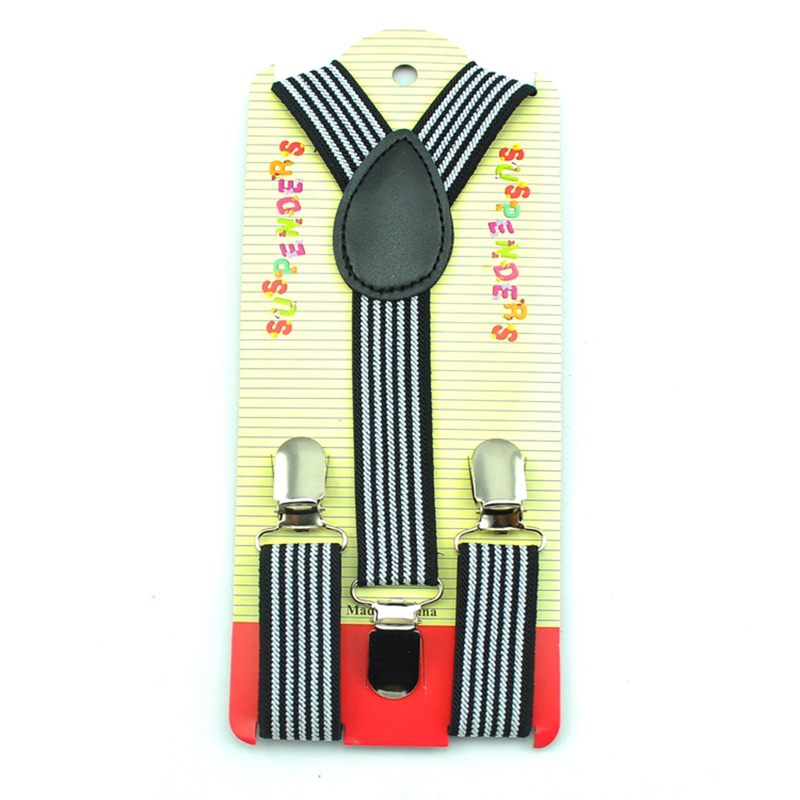 New Arrival Adjustable 2.5cmx65cm Striped #6 Kids Suspenders Children/Boys/Girls Elastic Braces Slim Suspender Y-back Suspenders