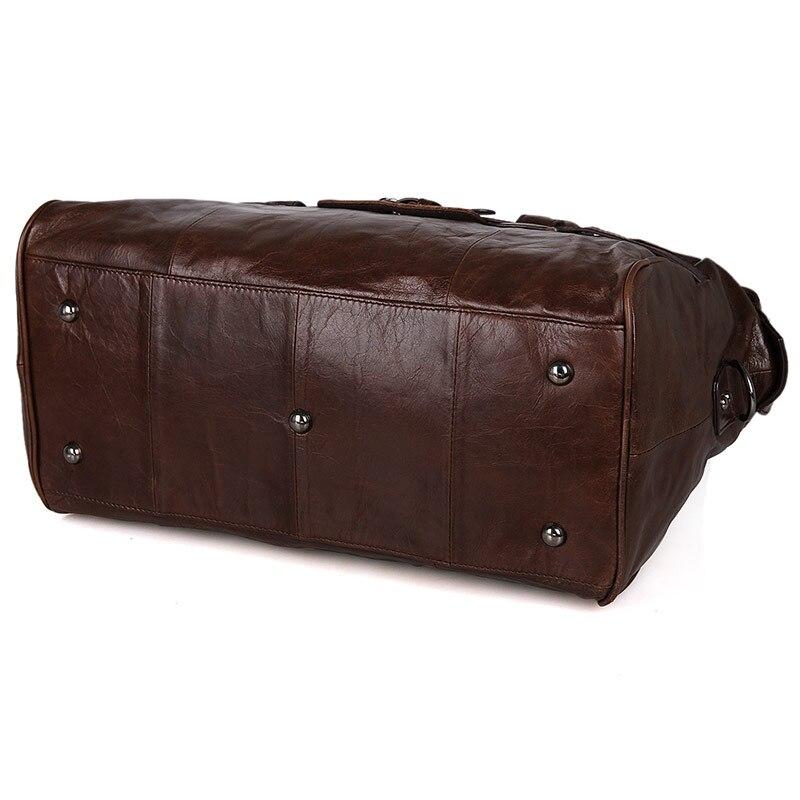J.M.D Äkta Vintage Läder Mäns Business Briefcase Manlig Mode - Väskor för bagage och resor - Foto 2