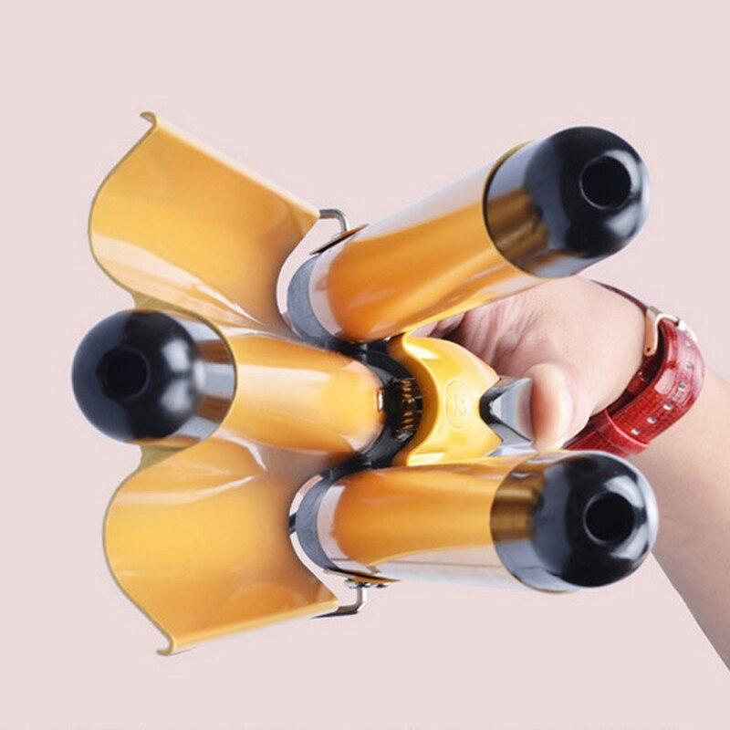 US Plug Digitalni Željezna Trostruka Cjevčica kose Curler kose - Njega kose i styling - Foto 3