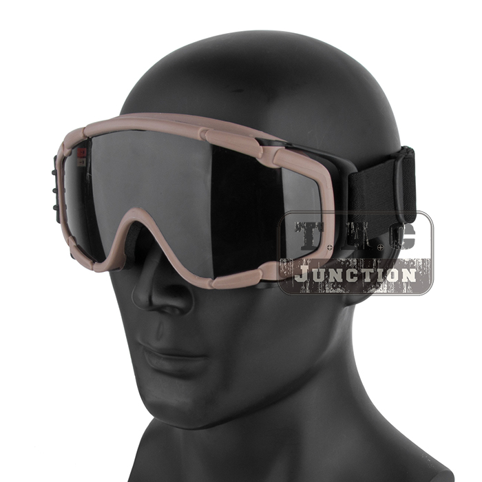 Tactical Paintball Anti-Fog Ballistic Goggle Outdoor Eyewear 2pcs Lens Military Hunting Skate Cycling Safety Glasses w Turbo Fan