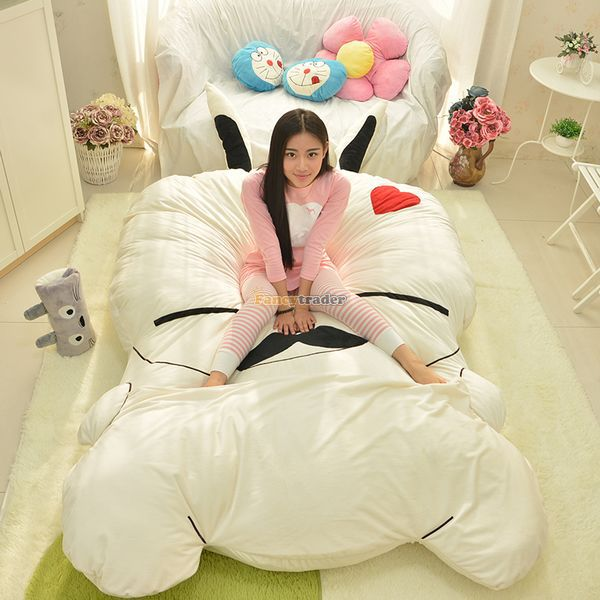Fancytrader 270cm X 160cm Giant Soft Plush Stuffed Double Size Rabbit Bunny Mattress Carpet Tatami Bed, Free Shipping FT50680 fancytrader 150cm lovely plush soft cartoon rabbit toy stuffed giant 59 animal bunny nice lover gift