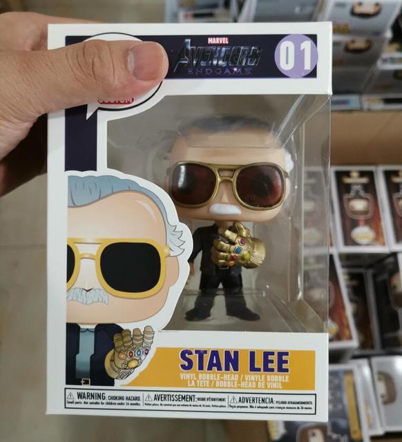 636c1ab8200f Película padre Marvel Stan Lee con guantelete del infinito lindo vinilo  figura de modelo juguetes regalos