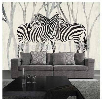 Freies Verschiffen Nach 3D Wandbild Klassische Retro Modernes Sofa  Schlafzimmer TV Hintergrund Tapete Zebra Tapete In Freies Verschiffen Nach  3D Wandbild ...