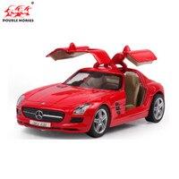 Суперкар Benz SLS AMG 1:32 Diecast Отступить сплав Модель Коллекция назад автомобиль детей с Звук Свет коллекция игрушка в подарок