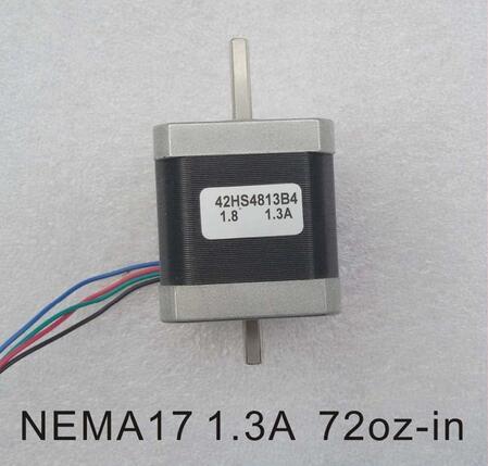 2pcs/lot Dual Shaft NEMA 17 Stepper Motor 52N.cm (72 oz-in) Body Length 48mm CE Rohs CNC 3D Printer Motor цена
