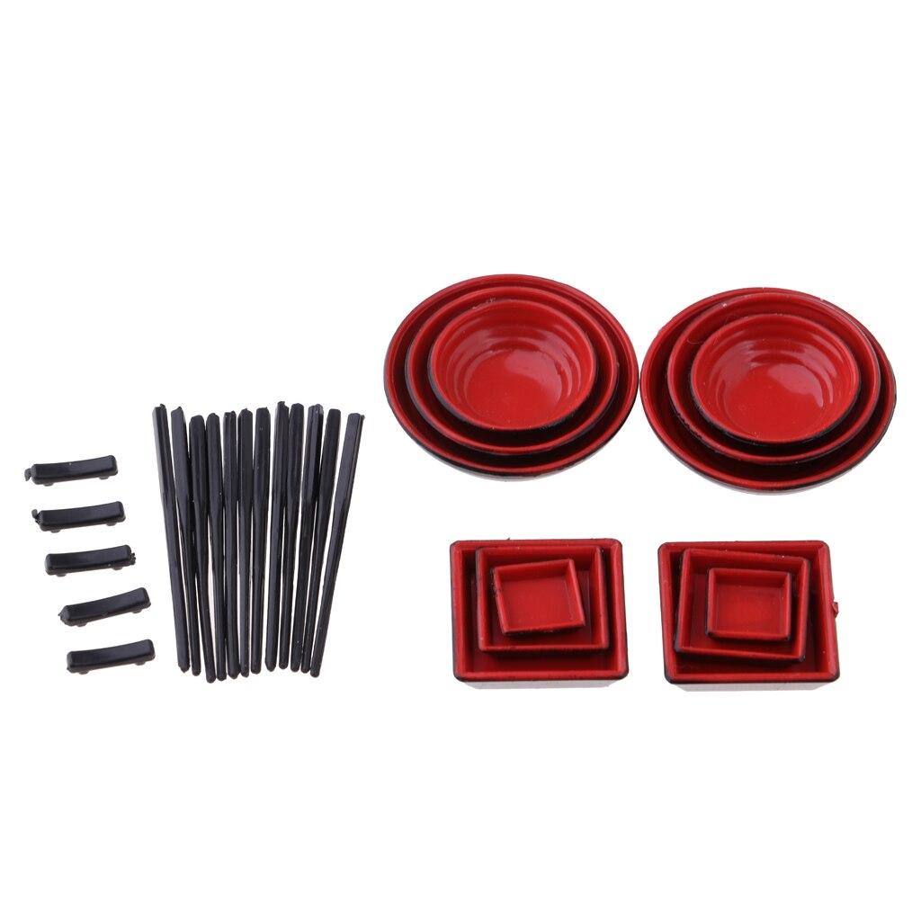 1:12 Scale Dolls House Miniature Plastic Chopsticks Tableware Black Accs