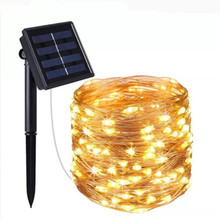 10M 100LED Solar Light 2 Modes Fairy String Party Christmas Lamp Outdoor Garden Decor