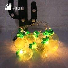 2 М ананасовая светодиодная струна Licht Warm Wit 10 LED Баттан Бал Lichtslingers Керст Туин
