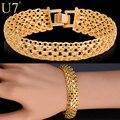 U7 marca pulsera h537 mano chunky cadena de oro de la moda plateado joyería de los hombres al por mayor
