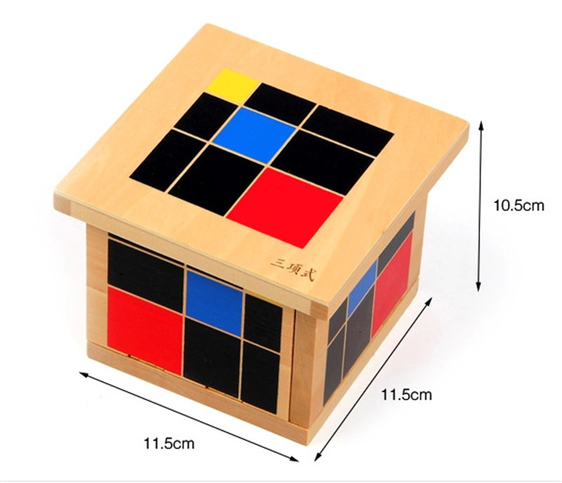 New wooden toy Baby Toy Montessori Algebraic Cube Early Childhood Education Preschool Training Math Kids Toys Free shipping formal vocational education and training