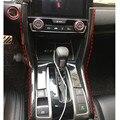 Para honda civic 10th 2016 2017 interior do carro caixa de velocidades console tampa moldura do painel guarnição sequin decoração acessórios do carro