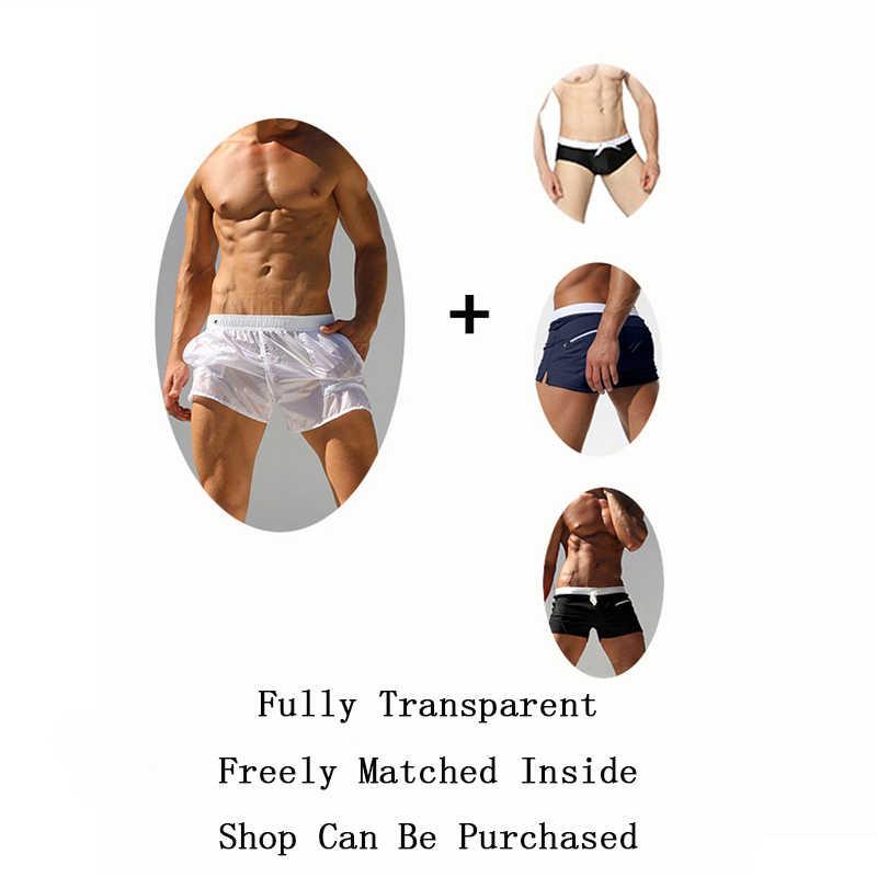 ALSOTO Bademode Badeanzug Sexy Voll Transparent Badehose Briefs Mayo Surf Board Strand Shorts badpak Maillot De Bain Boxer