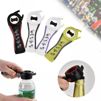 5 in 1 Hot Dropshipping !!! Multifuctional All In One Opener Bottle Opener Jar Can Kitchen Manual Tool Gadget Multifunction New
