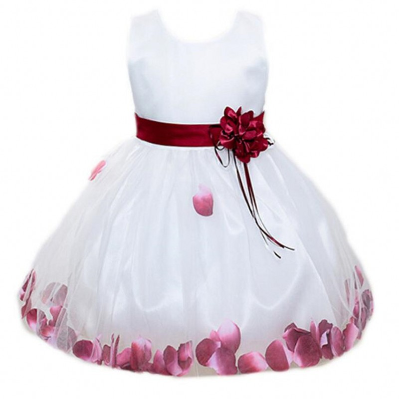 Tutu Flower Baby Dress For Wedding Party Sleeveless Infant Baby Petal Dresses For 1 Years Toddler Girl Birthday Baptism Clothes universal car seat covers for kia rio sportage spectra ceed cerato soul carnival carens car accessories styling black gray red