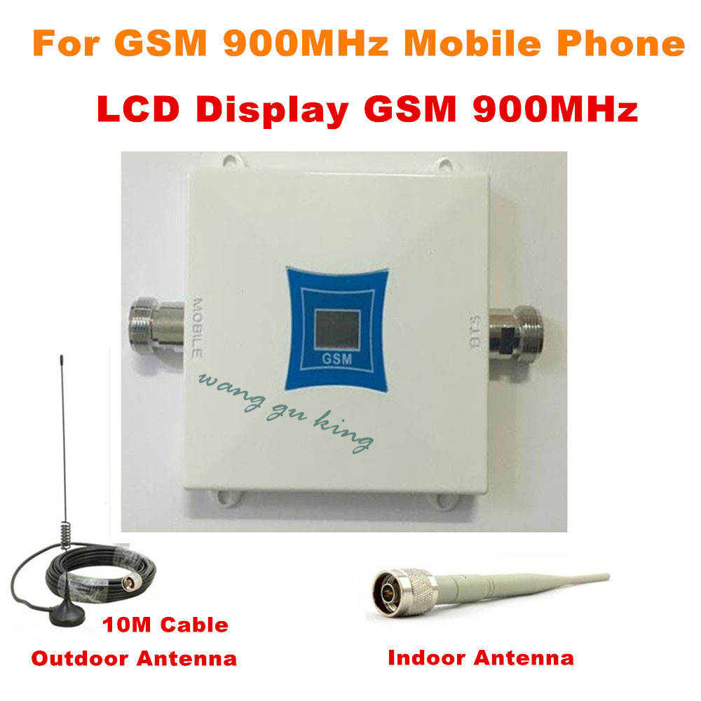 2018 1Set 2G 900MHz 900 Mhz GSM Mobile Cell Phone Signal Booster Repeater Gain 60dbi LCD With Antenna N Male For House Office