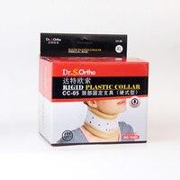 Colar de plástico rígido Fixo pescoço Pescoço cinta de fixação Fixo paciente da coluna cervical